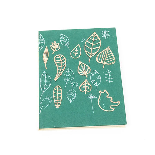 Trade Aid Green Leaf-Print Notebook