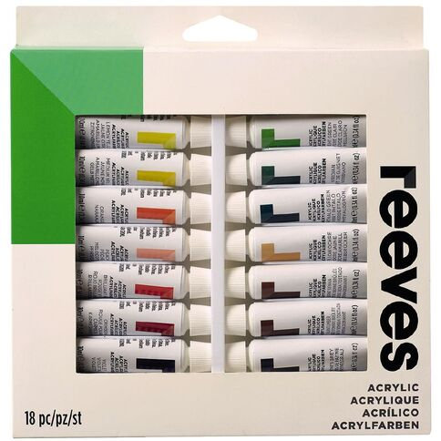 Reeves Watercolour Tubes - Set of 18