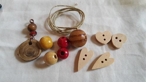 Bookmark Kit - Woody Hearts