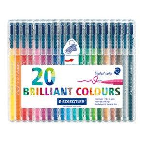 Staedtler Triplus Colour Felt Pens - 20