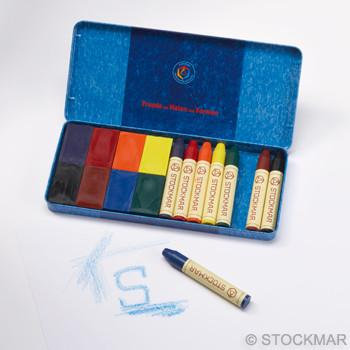 Stockmar - Tin of Block Crayons AND Stick Crayons