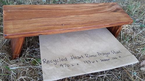 Prayer Stool - Hinged - Recycled Heart Rimu  #3