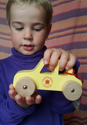 Little Wooden Car - Yellow