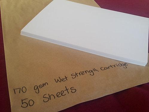 165 gsm Wet Strength Cartridge Paper - Pkt 50 A4 Sheets