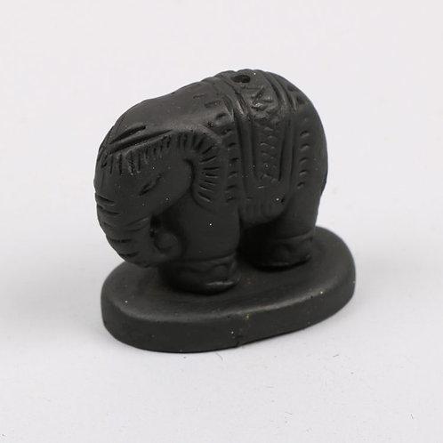 Elephant Incense Stick Holder - Black
