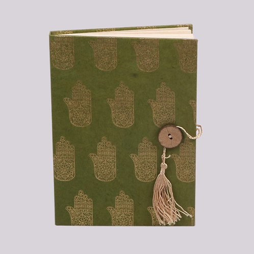 Trade Aid Green & Gold Hamsa Notebook