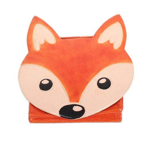 Leather Fox Coin Purse