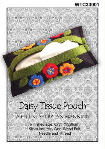 Daisy Tissue Pouch Kitset by Lyn Manning