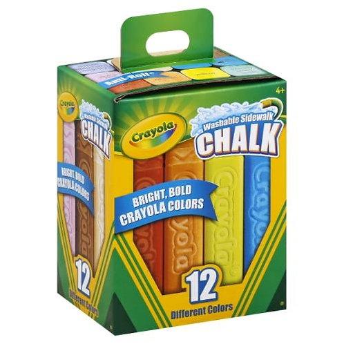 Crayola Sidewalk Chalk - 12 Regular or 5 Neon