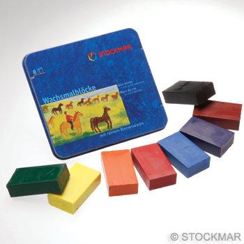 Stockmar Block Crayons - Tin of 8 Standard Mix Colours