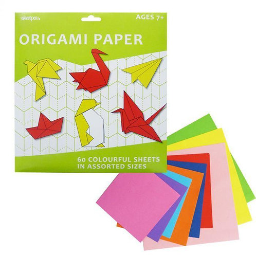 Origami Paper - Pack of 60 Assorted-Sized Sheets