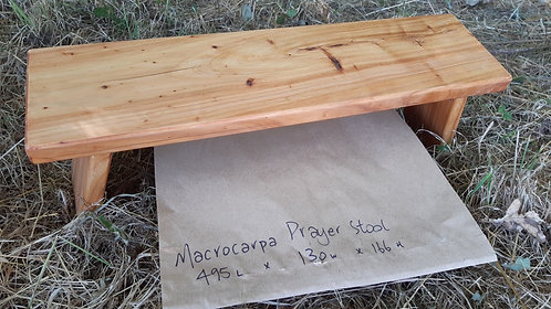Prayer Stool - Hinged - Macrocarpa  #7