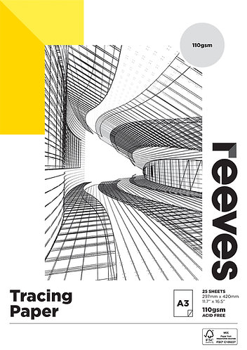 Reeves Tracing Paper Pad - A4 or A3 - 90gsm or 110gsm