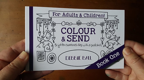 Colouring Postcards - Book one