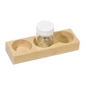 Wooden Paint Jar Holder - 3 holes