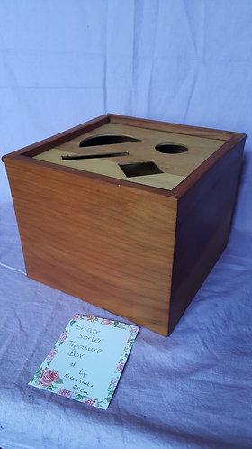 Recycled Rimu Shape-Sorter Treasure Box #4