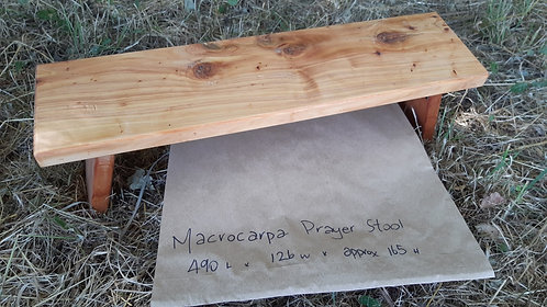 Prayer Stool - Hinged - Macrocarpa #8