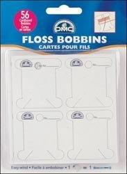 Pack of 56 Cardboard Floss Bobbins