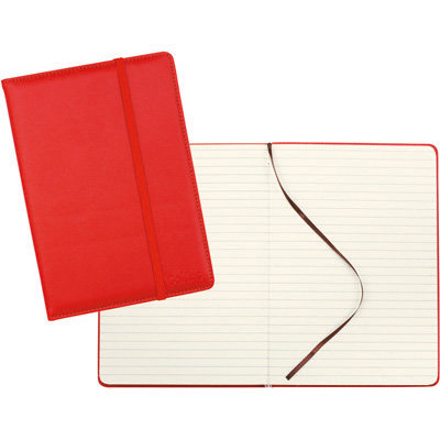 Collins A5 Red Leatherette Journal