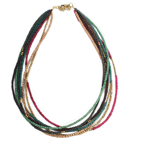 7-String Multicoloured Necklace