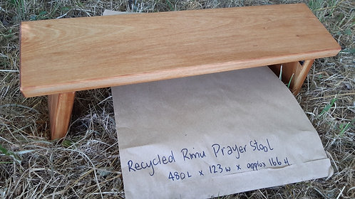 Prayer Stool - Hinged - Recycled Rimu #1A