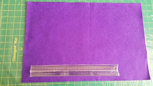 1 x Large WoolFelt Sheet - Purple Rain