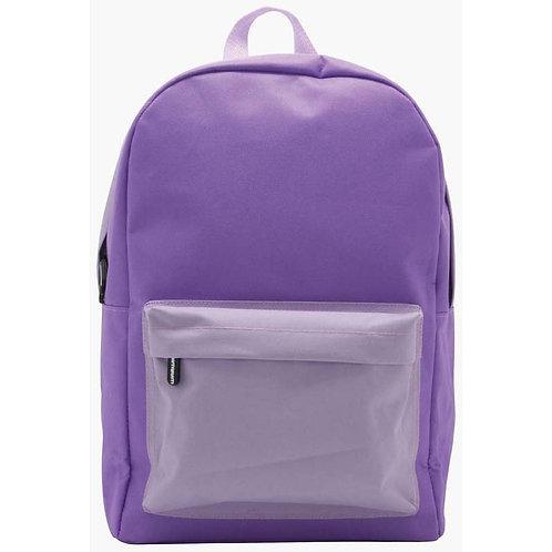 Plain sturdy backpack - Purple or Blue