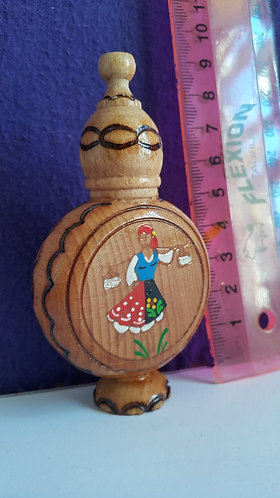 Miniature Wooden Bottle