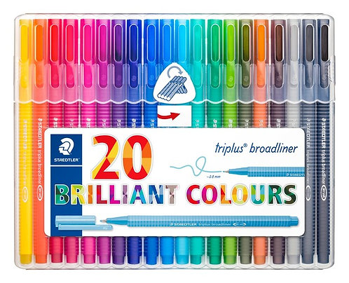 Staedtler Broadliner Pens - 20