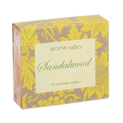 Sandalwood Incense Cones - 10 cones