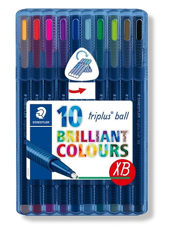 Staedtler Triplus Ball XB - Pack of 10 colours
