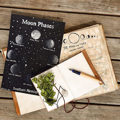 Phases Of The Moon Painting - PDF to download