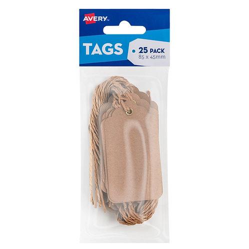 Kraft Brown Scalloped Labels - 25 pack