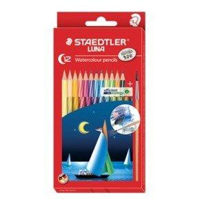 Staedtler Luna Watercolour Pencils - 12 + Paintbrush