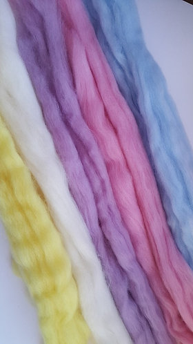 Ashford Corriedale Carded Wool - Pastel Pack