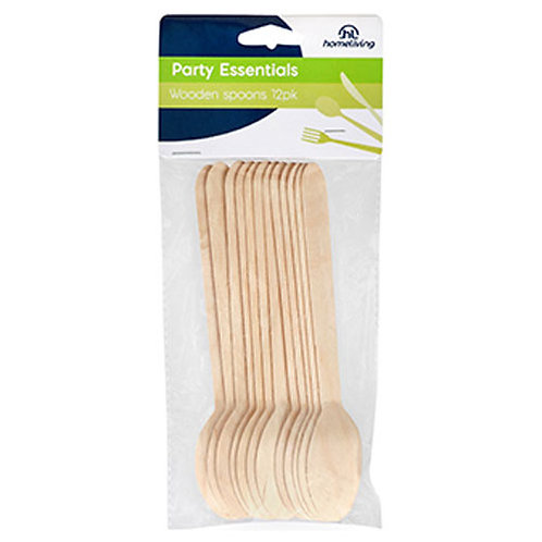 Wooden Spoons - 16cm - pack of 12
