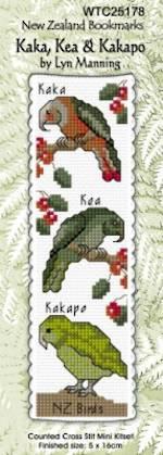 Cross-Stitch Bookmark Kits - NZ Birds