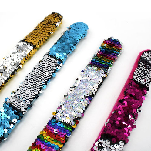 Sequin Slap Bracelets - 4 colours to choose from