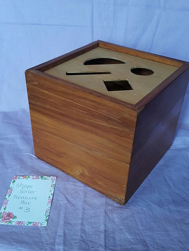 Recycled Rimu Shape-Sorter Treasure Box #3