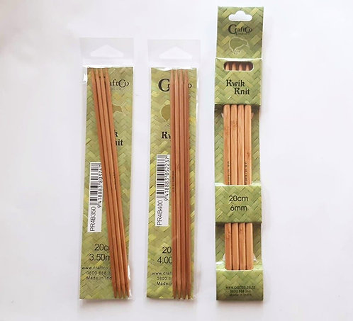 Bamboo Double Pointed Knitting Needles set of 4