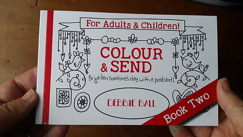 Colouring Postcards - Book two