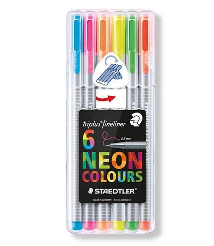 Staedtler Fineliners - Pack of 6 Neon Colours