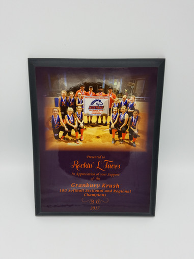 Sublimated Plaque