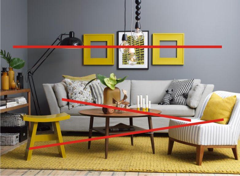 Sala Cinza com Amarelo Conectada