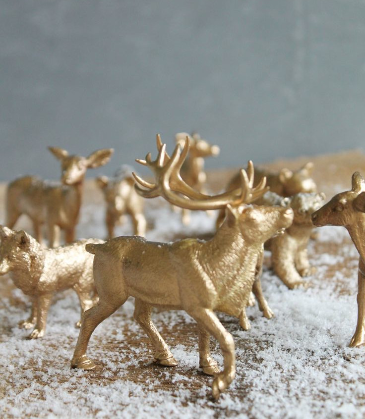 DIY-Gilded-Woodland-Animal-Ornaments