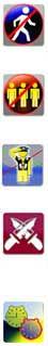 Avon LaserTag Elimination Game Format Icons