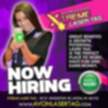 Now Hiring avon lase tag