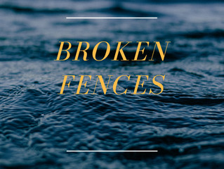 "Check out my song ""Broken Fences"""