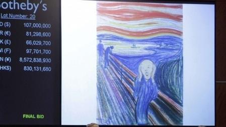"""Le Cri"" de Munch vendu au prix record de 119 millions de dollars"