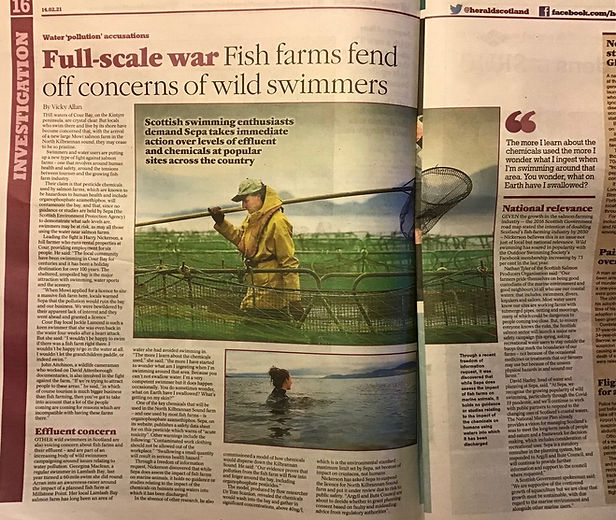 salmon farm wild swimmers